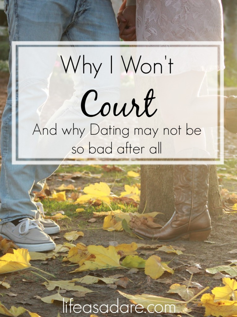 Courtship vs. Dating has been widely debated in the Christian community ever since Josh Harris's book came out. What if courtship isn't actually all it's cracked up to be, though? Here are one blogger's thoughts on why she won't court.
