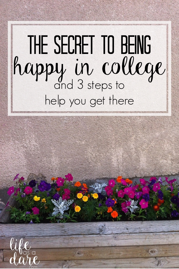 Here Is The #1 Secret To How To Be Happy In College! Plus,