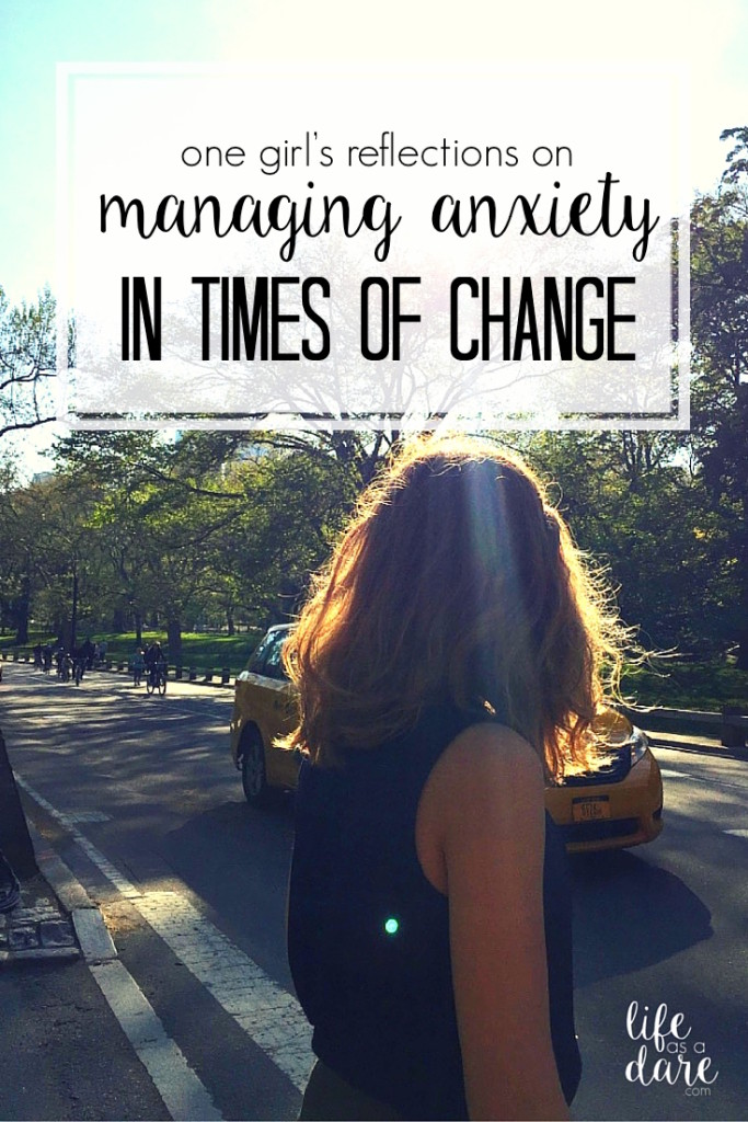 Managing anxiety can be tough, but especially when everything is changing. Here's what one blogger has learned through dealing with anxiety through getting married, moving, graduating, her first job, the whole works.