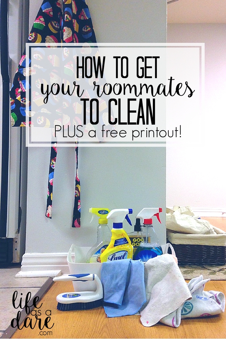 How To Get Roommates To Clean - Life as a Dare
