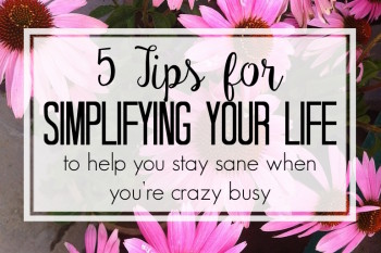 5 Simplification Tricks to Stay Sane during a Busy Summer